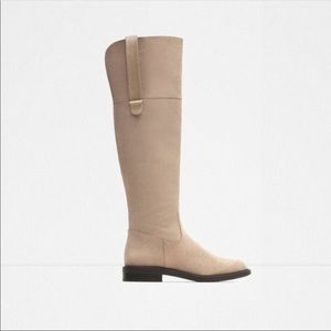 NWT    ZARA Taupe Tall Boots
